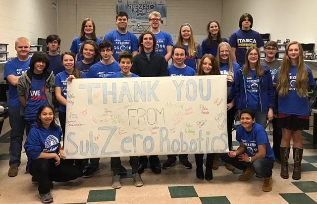 Thank you from the Esko Subzero Robotics Team
